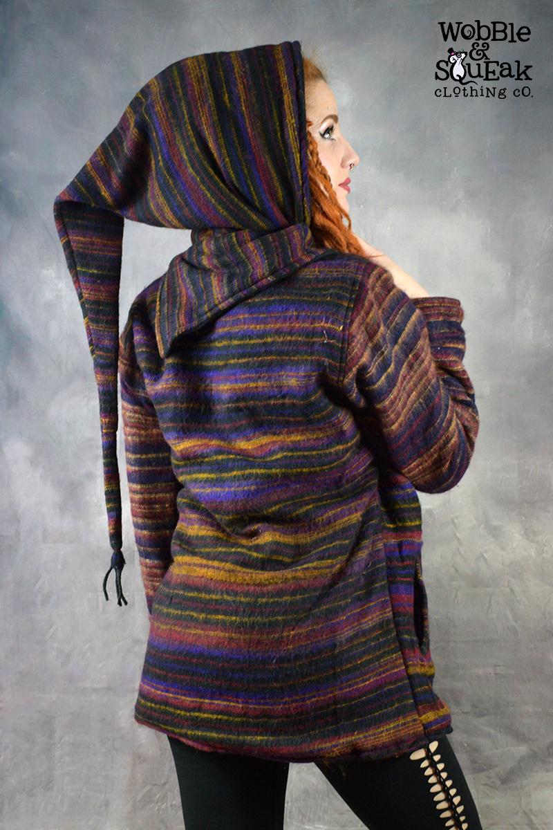 Woolen Pixie Jacket Black/Purple