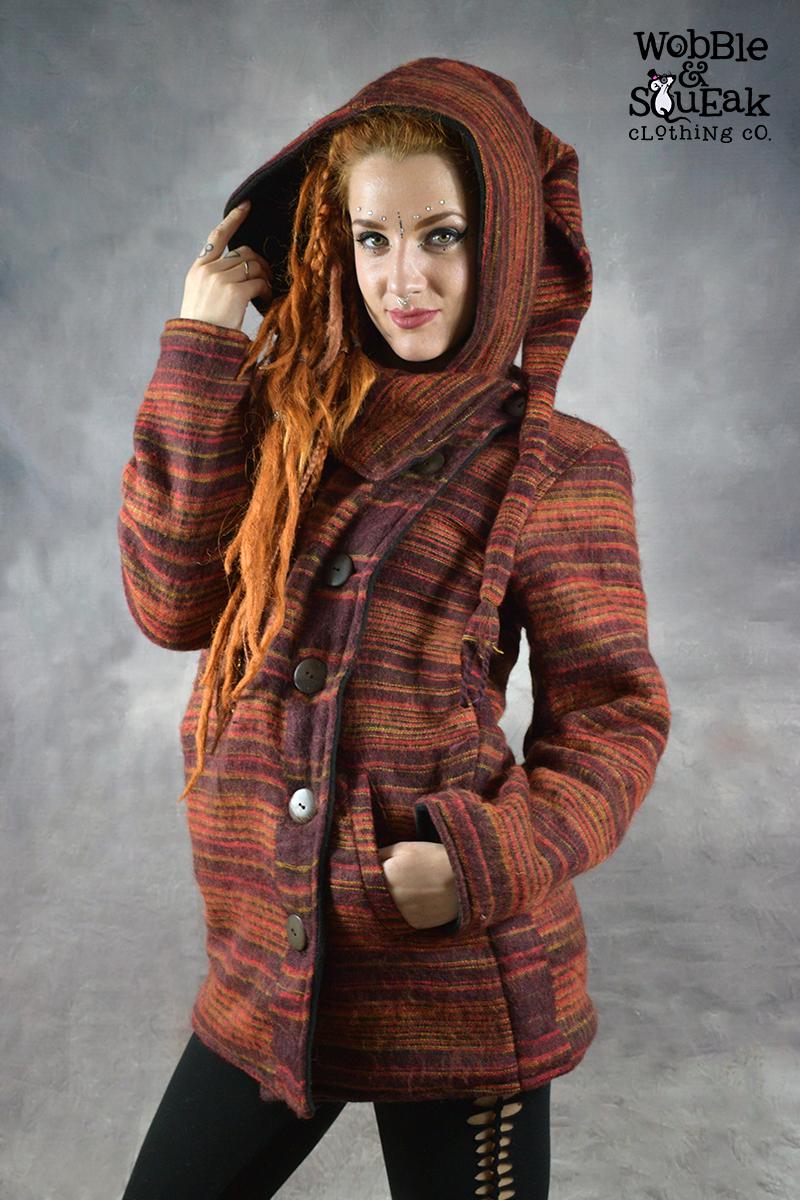Woolen Pixie Jacket Rust