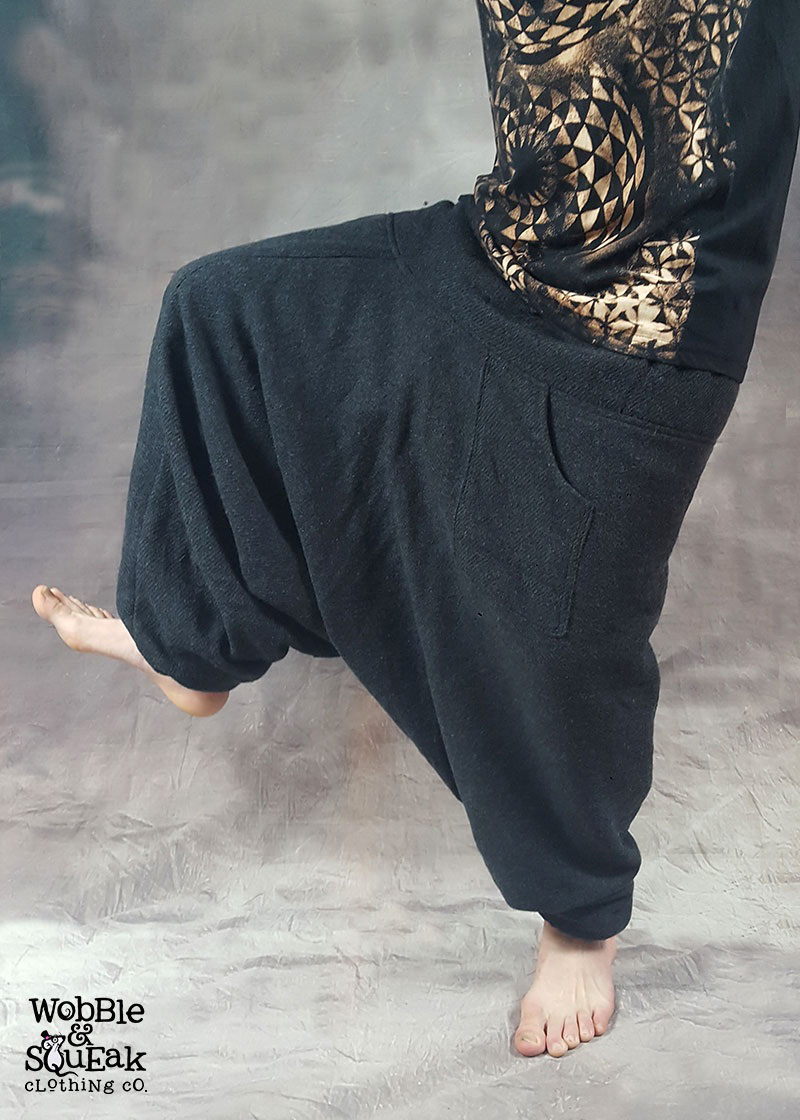 Fleece Lined Harem Dark Grey