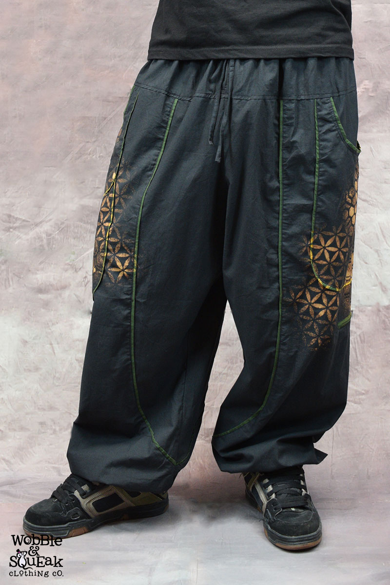 Sacred Geometry Atom Trousers Black