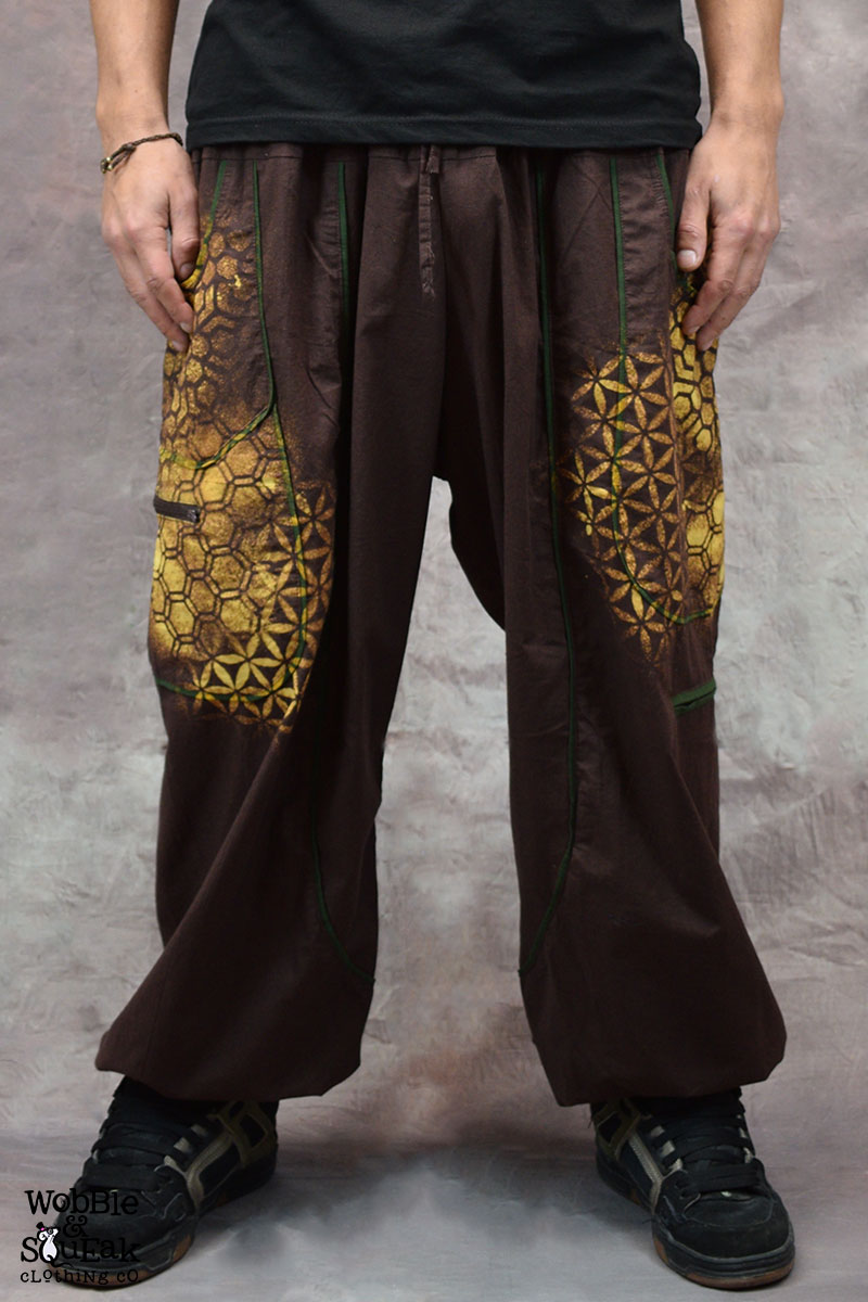 Sacred Geometry Atom Trousers Brown