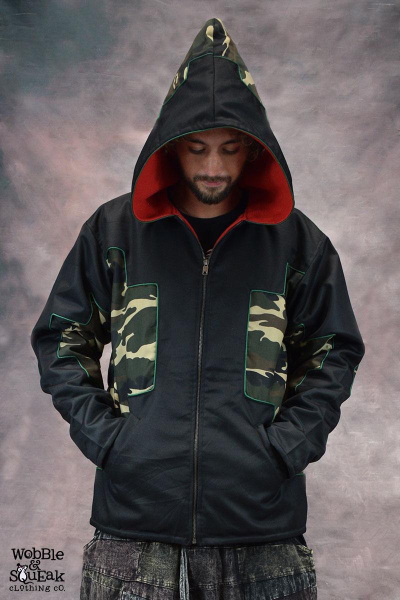 Camo Star Jacket Black