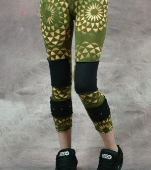 Sacred Geometry Stud Leggings Army