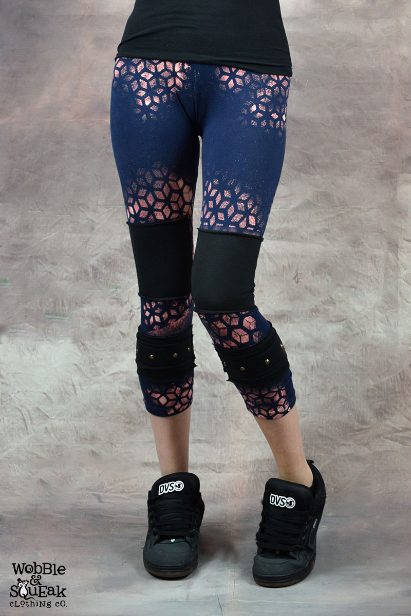 Sacred Geometry Stud Leggings Purple