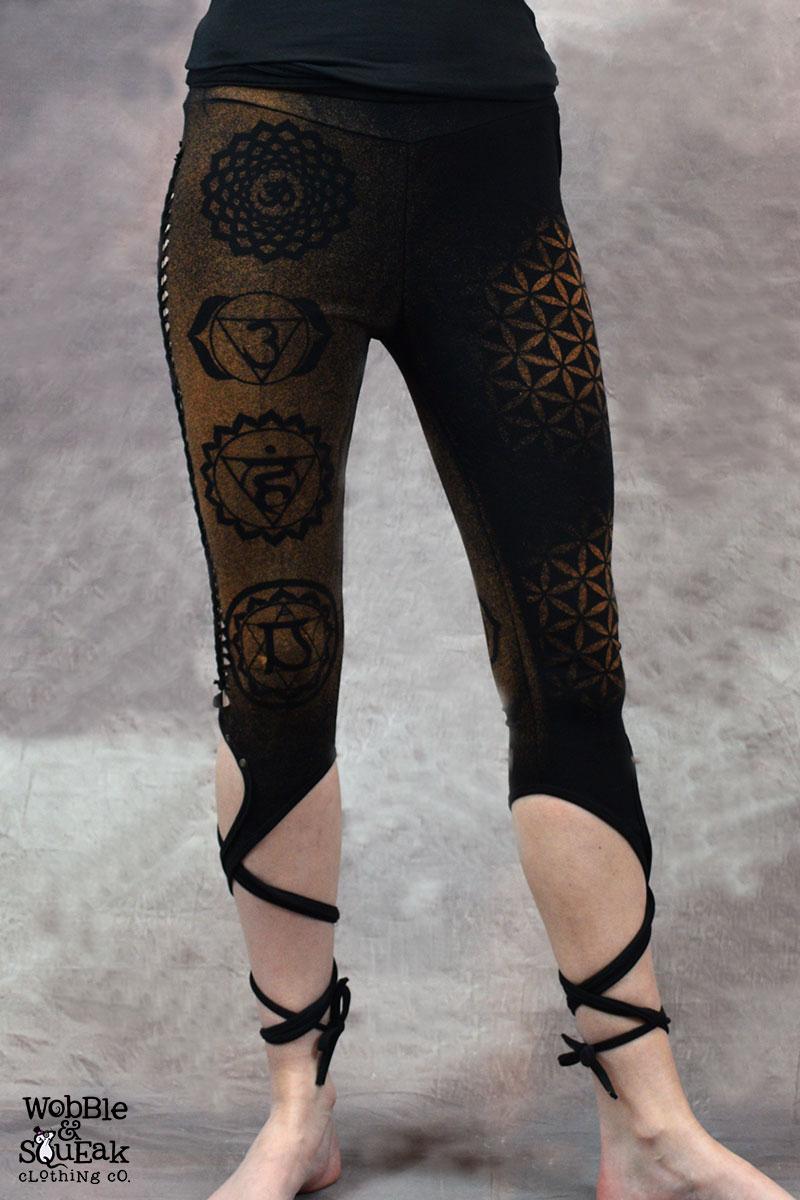 Chakra Tie Leggings Black