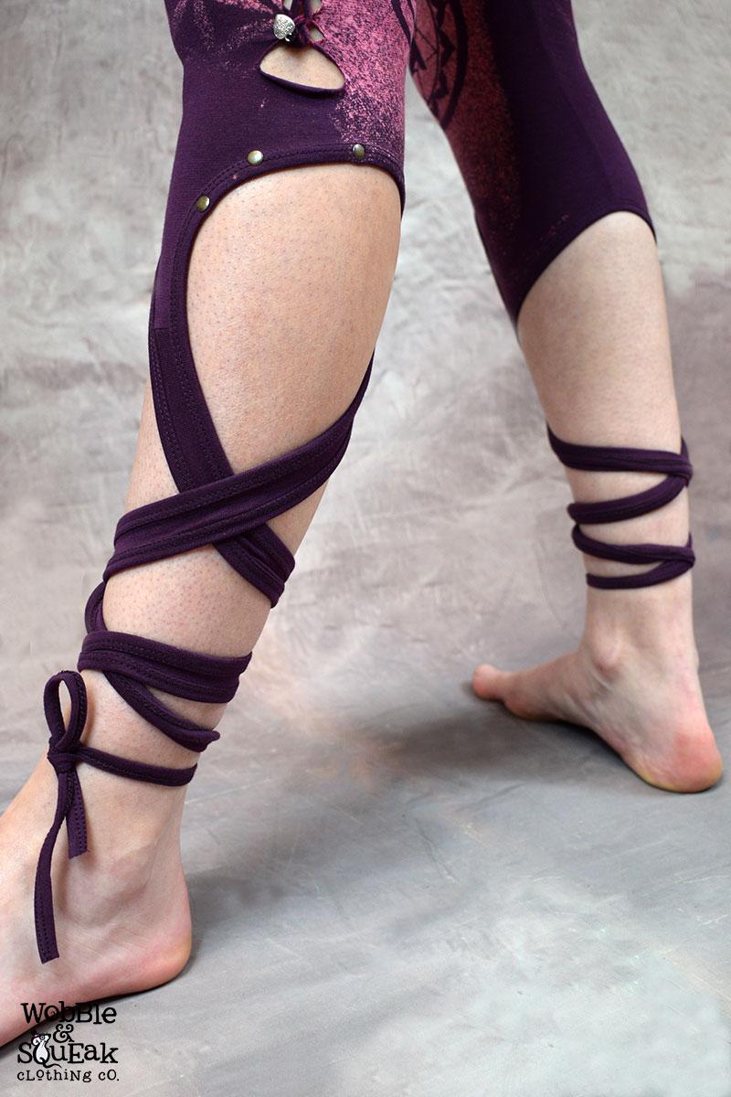 Chakra Tie Leggings Purple