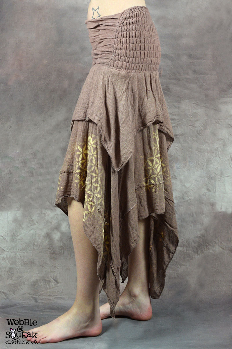 Sacred Geometry Butterfly Skirt Champagne