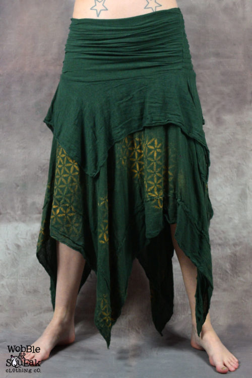 Sacred Geometry Butterfly Skirt Forest