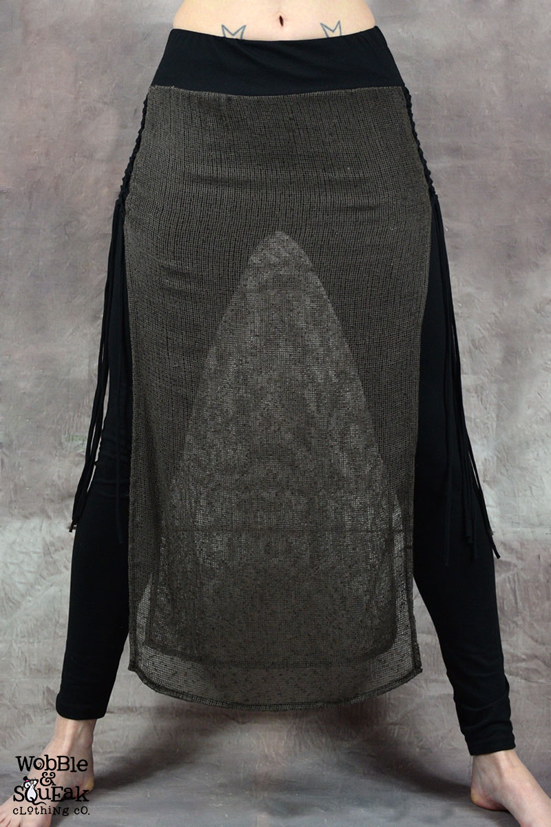 Matrix Trinity Skirt Black with Brown