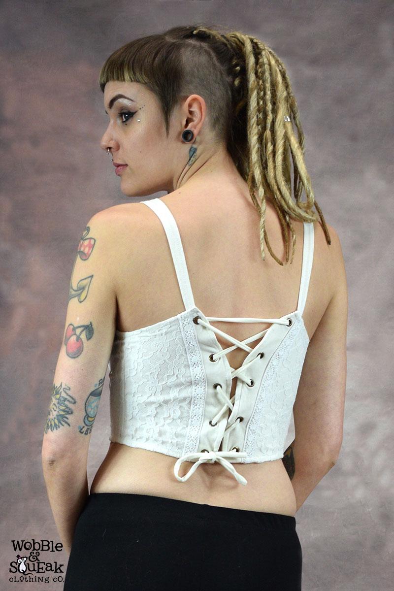 Krissy Short Knot Top White