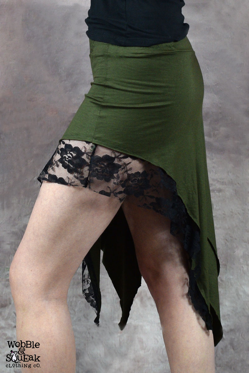 Zena Lace Skirt Army