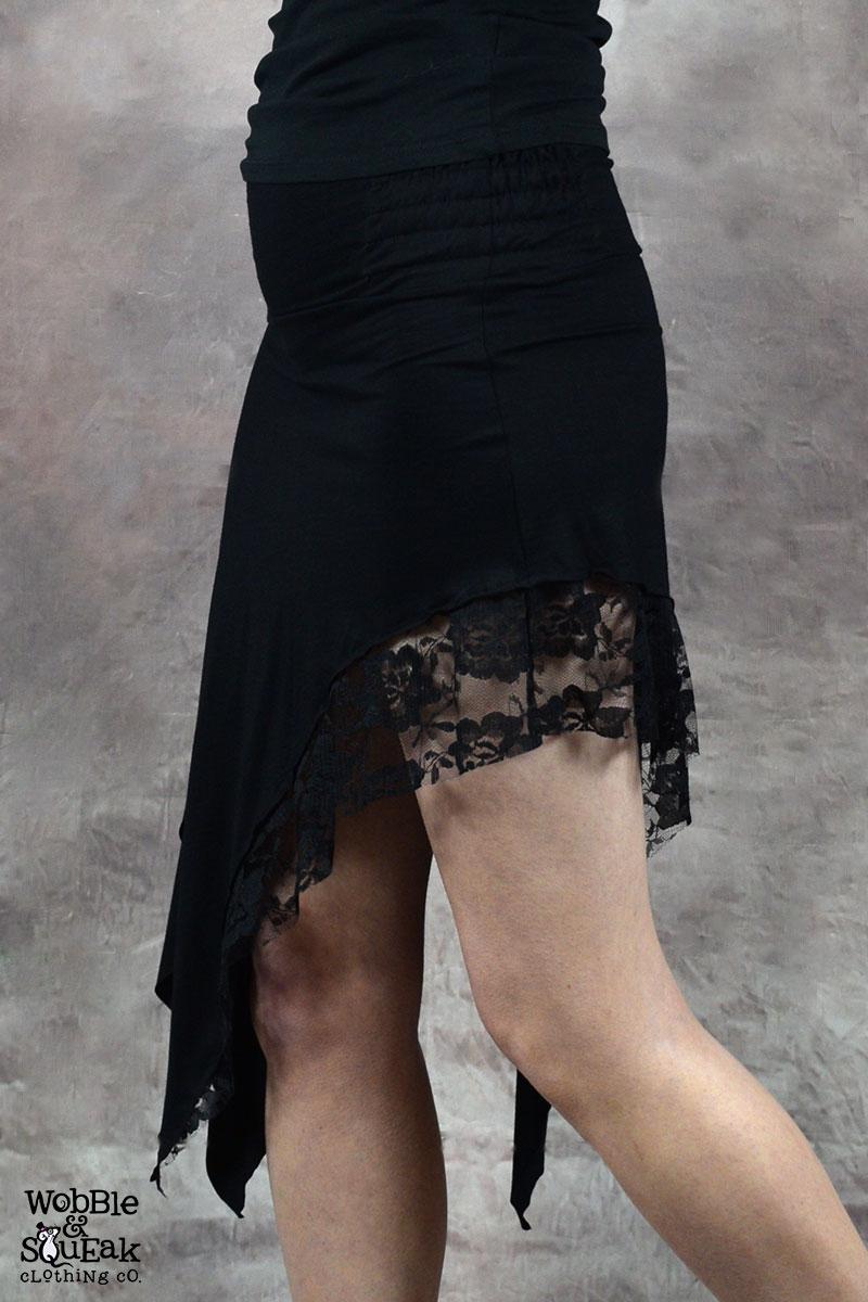 Zena Lace Skirt Black