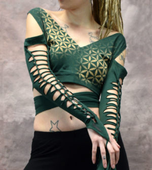 FOL Weave Ameila Forest Top