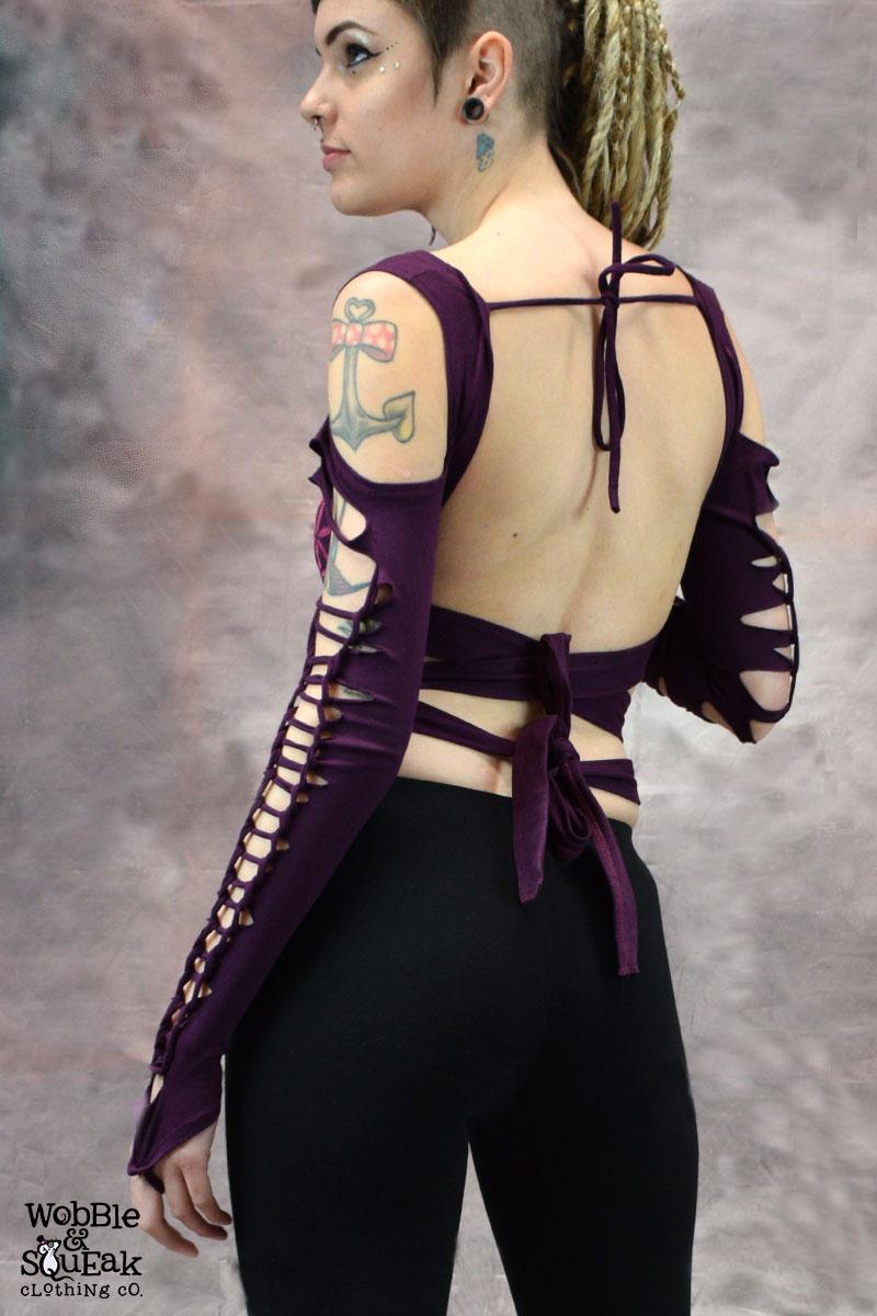 FOL Weave Ameila Purple Top
