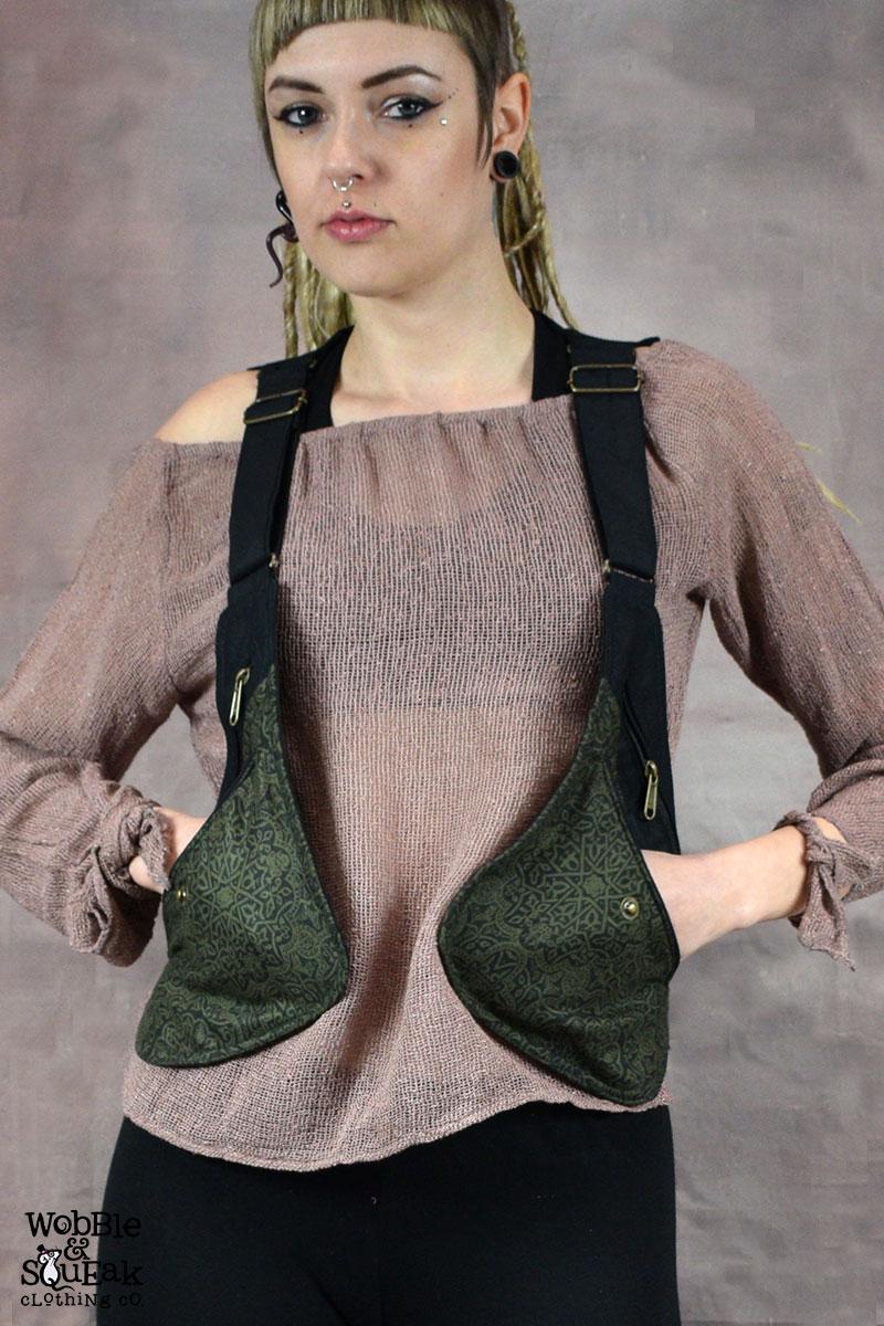 Freestyle Pocket Waistcoat Black