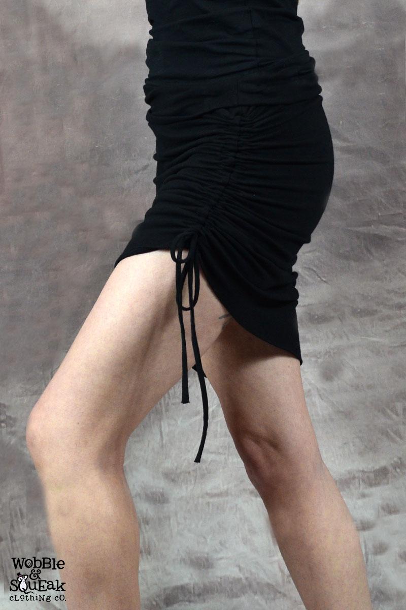 Venus Scrunch Tassle Skirt Black