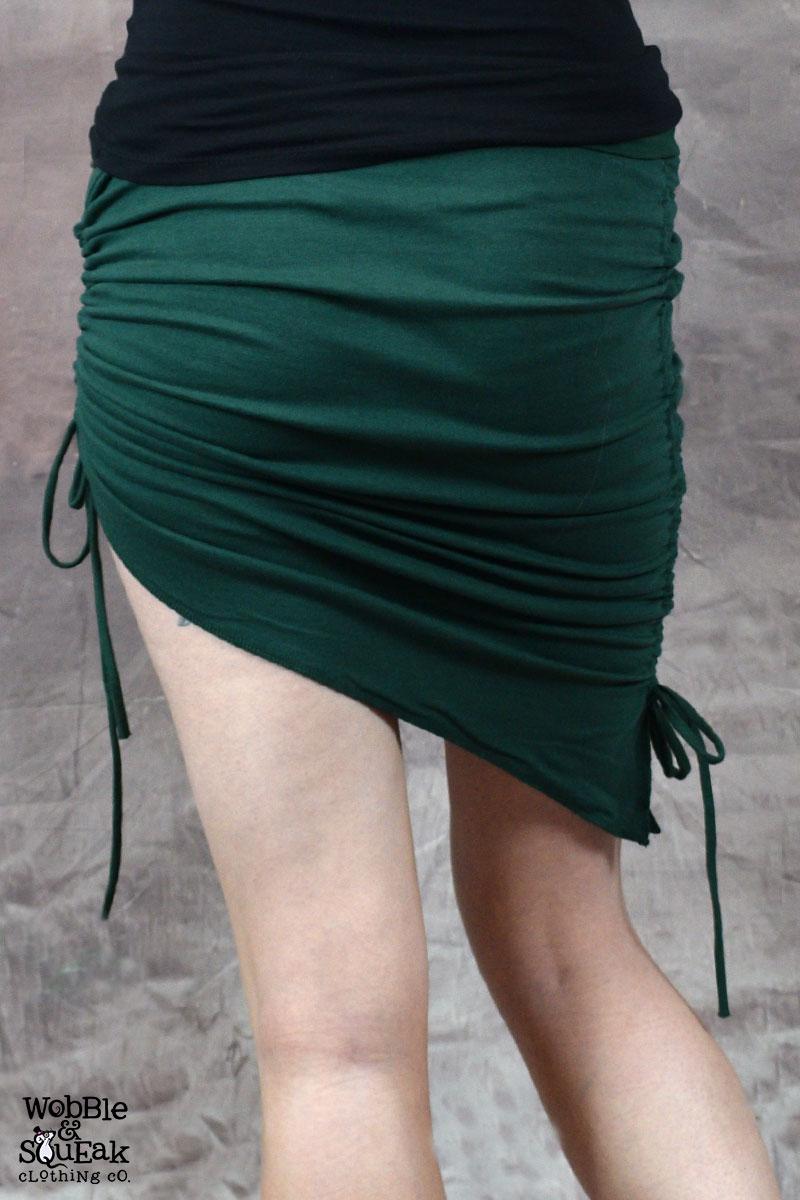 Venus Scrunch Tassle Skirt Forest