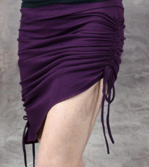 Venus Scrunch Tassle Skirt Purple