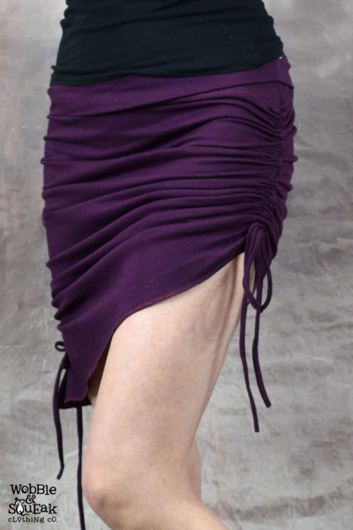 Venus Scrunch Tassle Skirt Purple