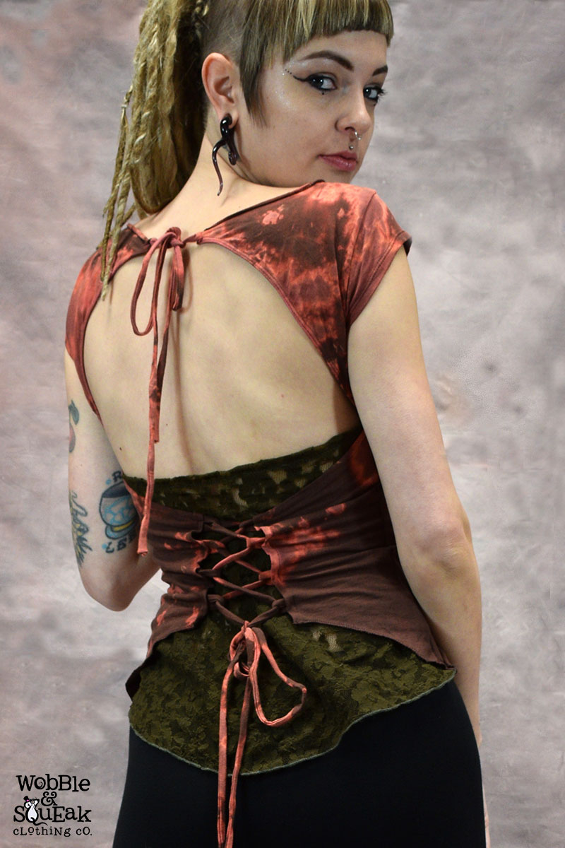 Tie Dye Suntop Brown