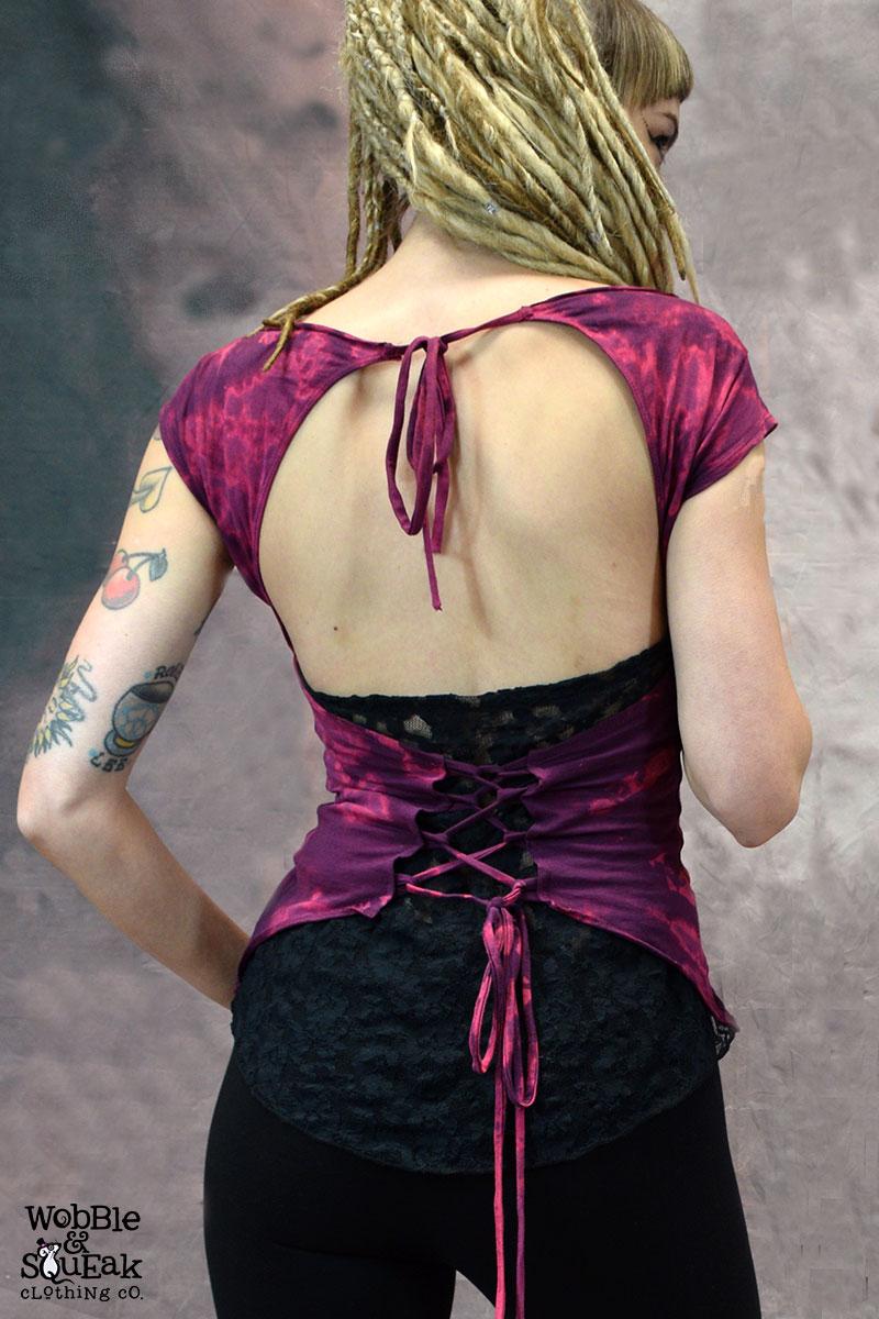 Tie Dye Suntop Purple
