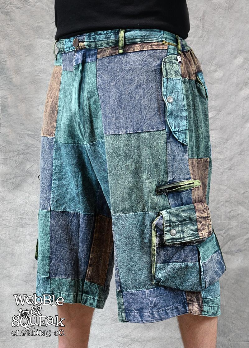 Patchstone Shorts Petrol Blue