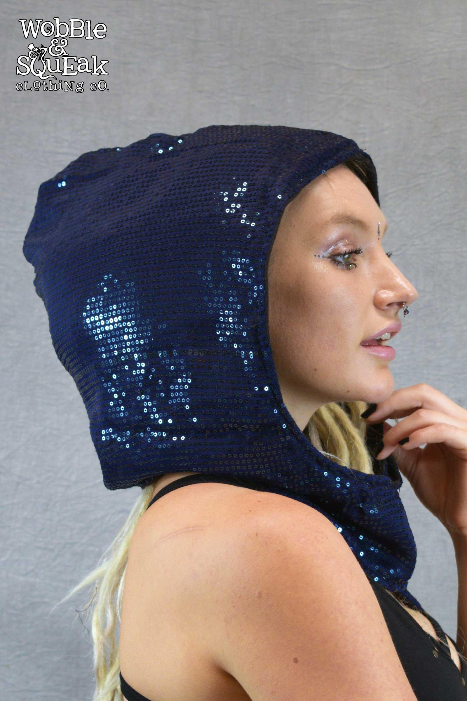 Sequin Festival Hood Blue