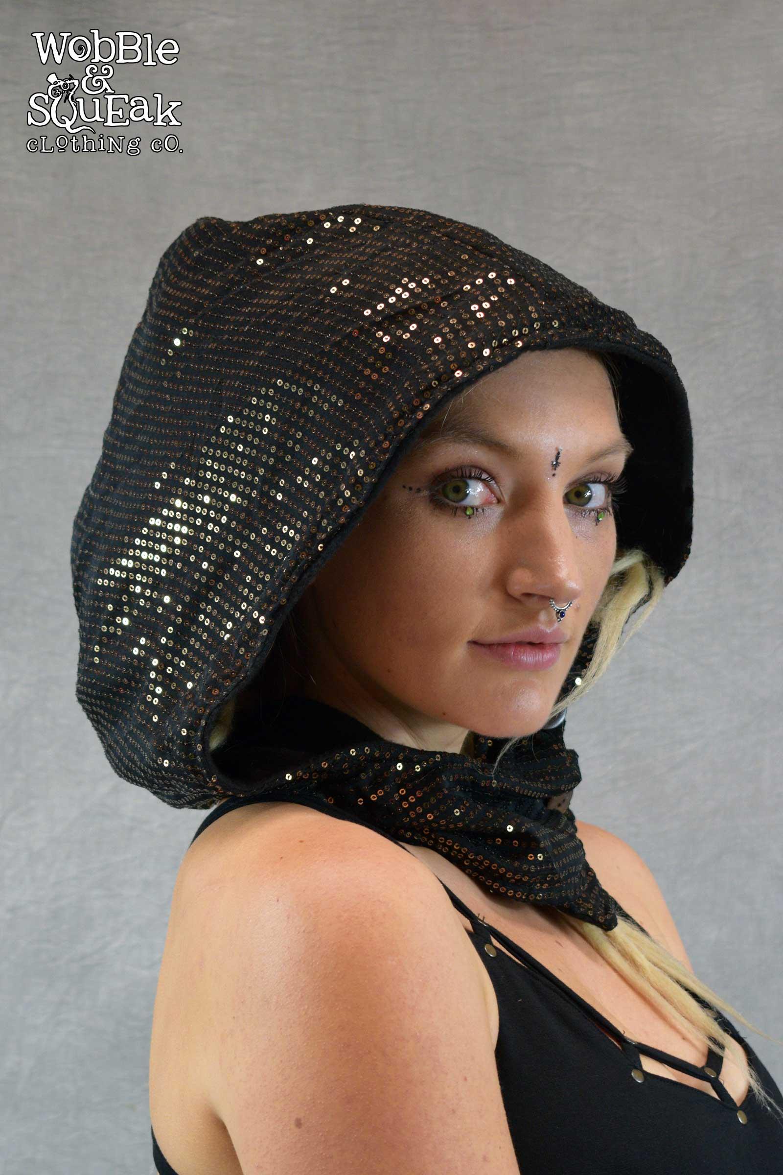 Sequin Festival Hood Gold