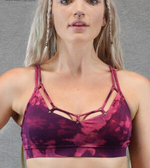 Tie Dye Ring Bra Purple