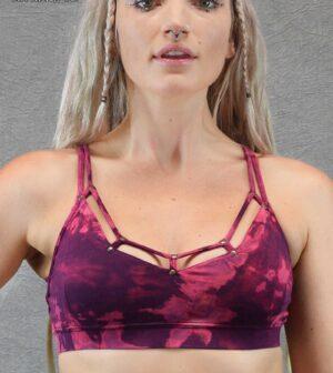 Tie Dye Ring Bra Purple