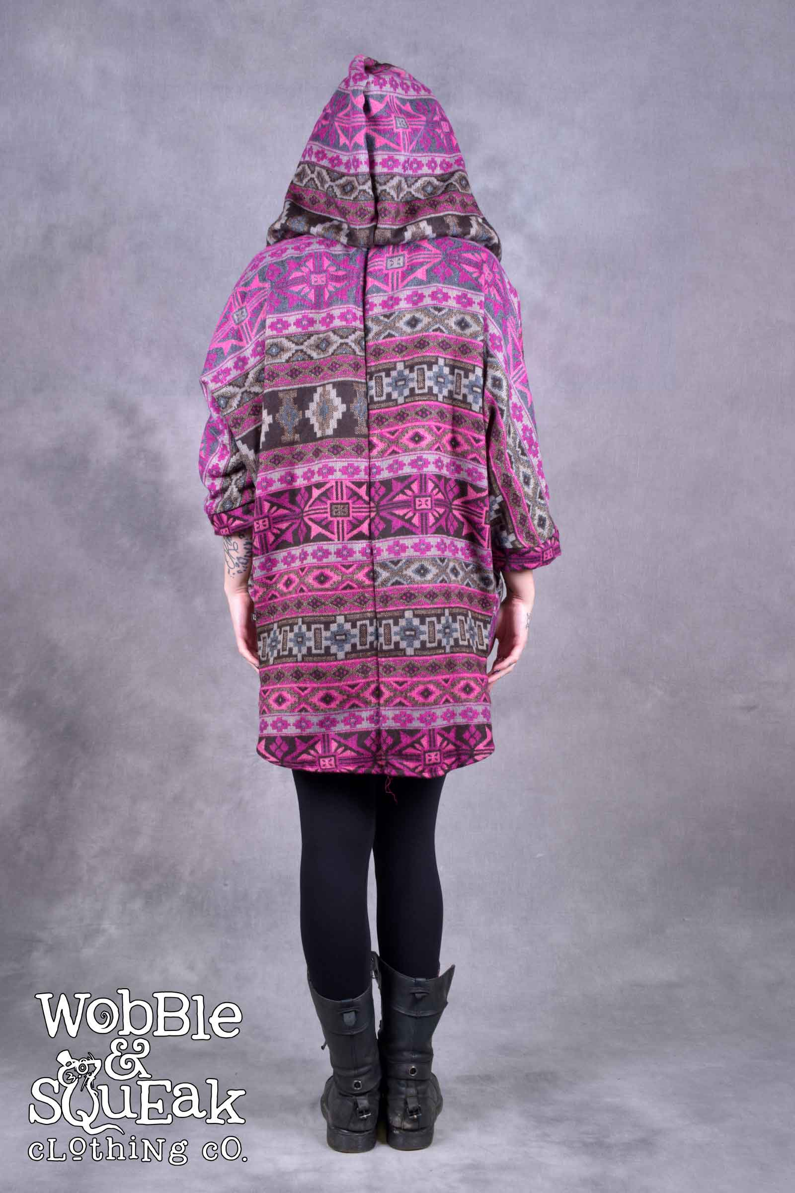 Himachal Hooded Cardigan Pink