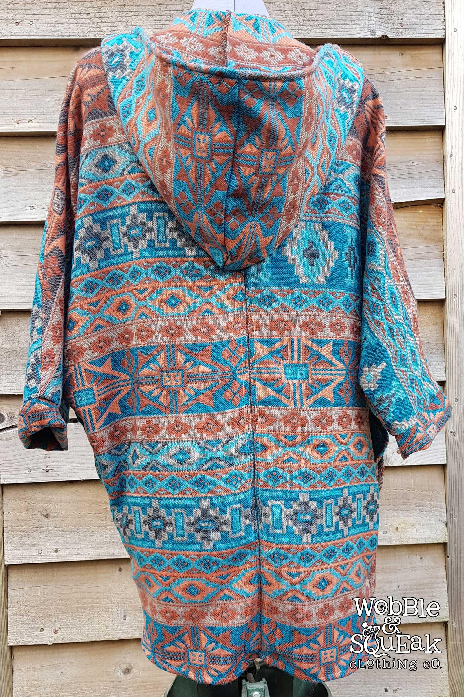 Himachal Hooded Cardigan Sky Blue