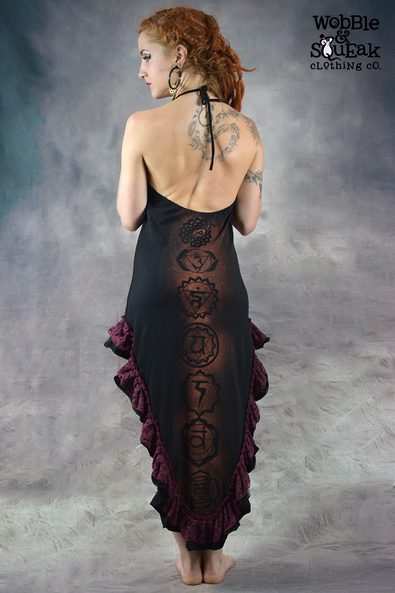 Chakra Flamenco Dress Black
