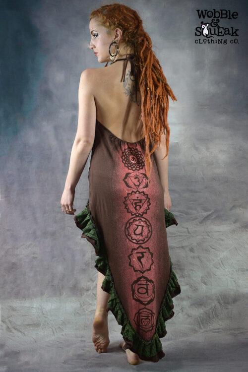 Chakra Flamenco Dress Brown