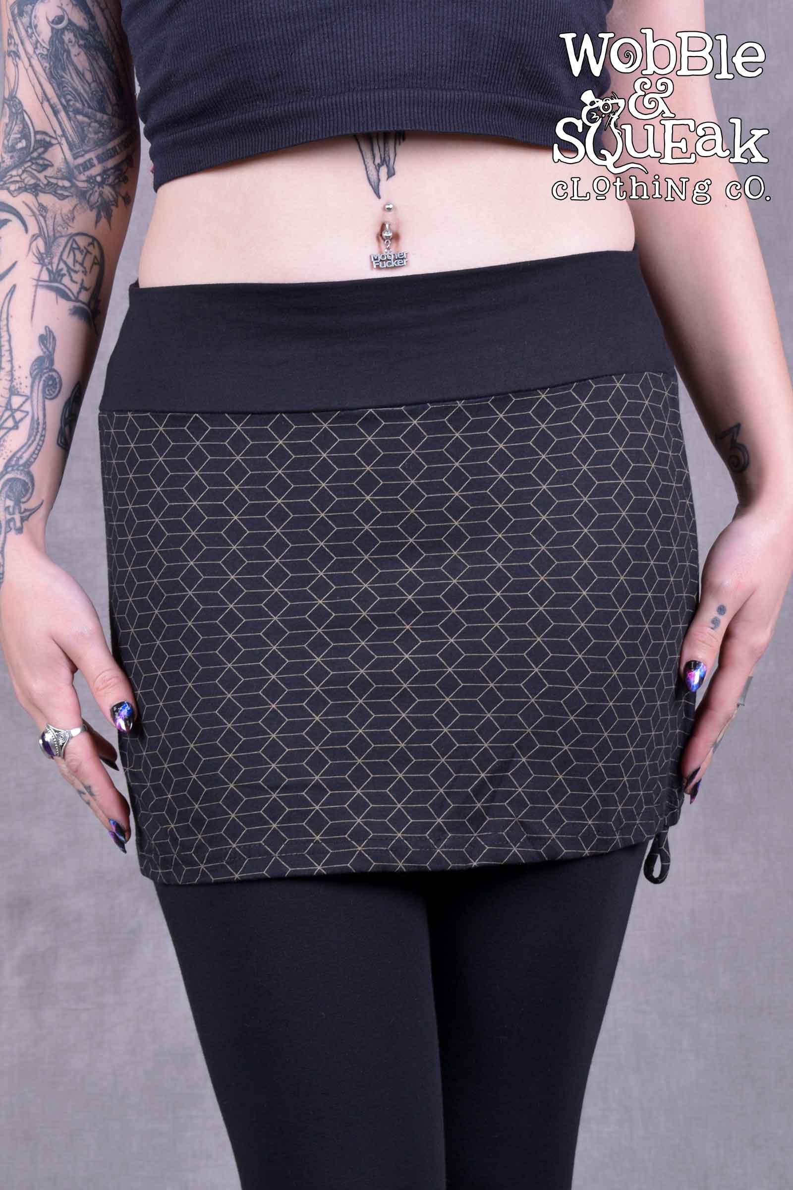 Hex Skirt Black