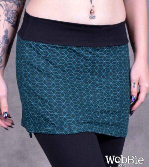 Hex Skirt Blue
