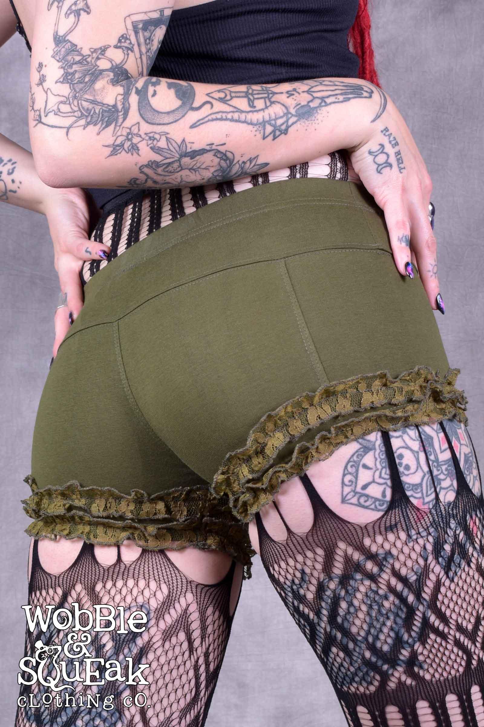 Circus Lace Hot Pants Army